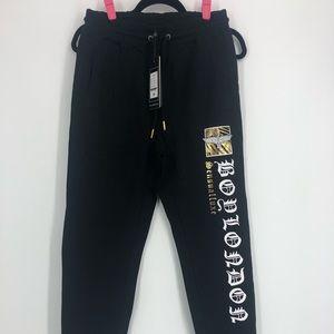 NWT Boy London Jogger Pants.  Printed logo.  Sz M